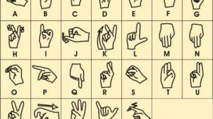 linguagem de sinais